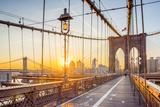 Usa, New York, Manhattan, Brooklyn Bridge at Sunrise Photographic Print by Alan Copson