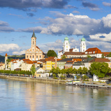 Elevated View Towards the Picturesque City of Passau, Passau, Lower Bavaria, Bavaria, Germany Photographic Print by Doug Pearson