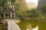 Ninh Binh, Northern Vietnam. Bich Dong Pagoda Nearby Ngu Nhac Mountain. Mountain. Photographic Print by Marco Bottigelli