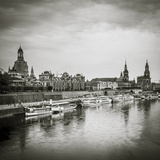 Elbe River, and City Skyline, Dresden, Saxony, Germany Photographic Print by Jon Arnold