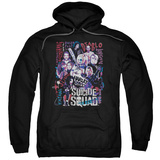 Hoodie: Suicide Squad- Graffiti Roll Call Pullover Hoodie