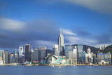 View of Convention Centre and Hong Kong Island Skyline, Hong Kong, China Photographic Print by Ian Trower