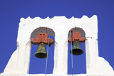 Bell Tower, Chora, Patmos, Dodecanese, Greek Islands, Greece, Europe Photographic Print by Neil Farrin