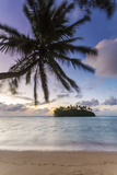 Sunrise over Small Islet, Rarotonga, Cook Islands Photographic Print by Matteo Colombo
