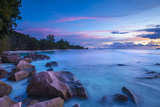 Beach at Sunset, La Digue, Seychelles Photographic Print by Jon Arnold