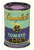 Colored Campbell's Soup Can, 1965 (green & purple) 高画質プリント : アンディ・ウォーホル
