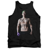 Tank Top: Suicide Squad- Joker All Tatted Up Tank Top