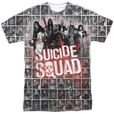 Suicide Squad- Red Spatter Logo Panels Sublimated