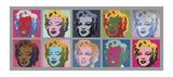Ten Marilyns, 1967 Posters van Andy Warhol