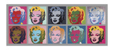 Ten Marilyns, 1967 Print by Andy Warhol