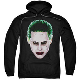 Hoodie: Suicide Squad- Joker Serious Face Pullover Hoodie