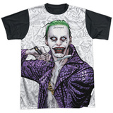 Suicide Squad- Joker Close Shave Etches (Black Back) Shirt