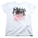 Womans: Suicide Squad-Red Spatter Logo T-shirts