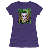 Juniors: Suicide Squad- Distressed Deranged Joker Shirts
