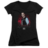 Juniors: Suicide Squad- Diablo In Flames V-Neck T-Shirt