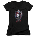 Juniors: Suicide Squad- Harley Quinn Lil Monster V-Neck T-Shirt