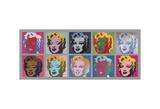 Ten Marilyns, 1967 Schilderij van Andy Warhol