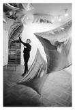 Andy Warhol/ Nat Finkelstein - Silver Clouds Installation, Leo Castelli Gallery, NYC, 1966 - Giclee Baskı