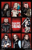 Suicide Squad- Character Grid Prints