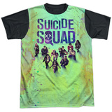 Suicide Squad- Stained Poster (Black Back) T-Shirt