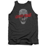 Tank Top: Suicide Squad- Grinning Skull Logo Tank Top