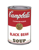Andy Warhol - Campbell's Soup I: Black Bean, 1968 - Tablo