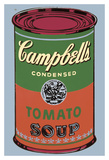 Colored Campbell's Soup Can, 1965 (green & red) Plakater af Andy Warhol