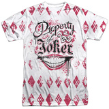 Suicide Squad- Property Of Joker Argyle T-shirts