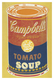 Colored Campbell's Soup Can, 1965 (yellow & blue) Print by Andy Warhol
