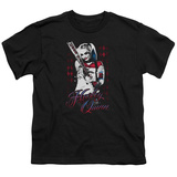 Youth: Suicide Squad- Distressed Harley Quinn At Bat T-shirts