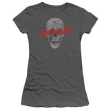 Juniors: Suicide Squad- Grinning Skull Logo T-shirts