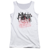 Juniors Tank Top: Suicide Squad-Red Spatter Logo Shirts
