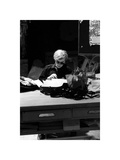 Andy at Typewriter, The Factory, NYC, circa 1965 Giclee Print by Nat Finkelstein