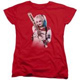 Womens: Suicide Squad- Harley Quinn At Bat T-shirts