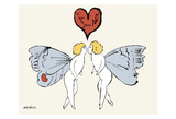 I Love You So, c. 1958 (angel) Posters par Andy Warhol