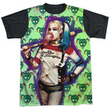Suicide Squad- Harley Bubble Skull (Black Back) Shirts