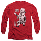 Long Sleeve: Suicide Squad- Harley Just Chillin Shirt