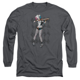 Long Sleeve: Suicide Squad- Harley Loaded Bat Argyle T-Shirt