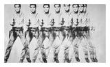 Andy Warhol - Eight Elvis, 1963 Digitálně vytištěná reprodukce