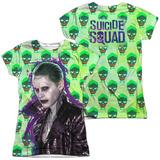 Juniors: Suicide Squad- Joker Skulls All Around (Front/Back) T-shirts