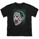 Youth: Suicide Squad- Joker Tattoo Headshot T-shirts