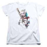 Womens: Suicide Squad- Harley Quinn At Bat T-Shirt