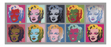 Ten Marilyns, 1967 Plakat af Andy Warhol