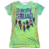 Juniors: Suicide Squad- Stained Poster T-Shirt