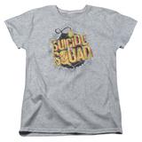 Womans: Suicide Squad- Vintage Bomb Logo T-Shirt