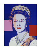 Reigning Queens: Queen Elizabeth II of the United Kingdom, 1985 (blue) Giclée-tryk af Andy Warhol