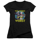 Juniors: Suicide Squad- Worst Of The Worst V-Neck T-shirts