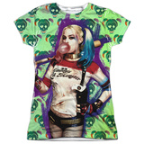 Juniors: Suicide Squad- Harley Bubble Skull T-shirts