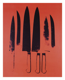 Andy Warhol - Knives, c. 1981-82 (Red) - Tablo