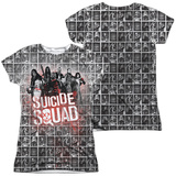 Juniors: Suicide Squad- Red Spatter Logo Panels (Front/Back) Shirts